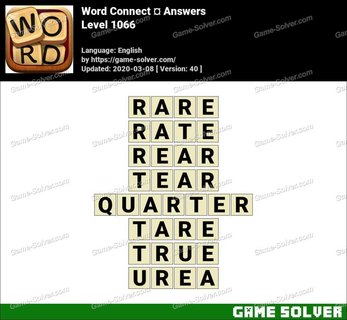 Word Connect Level 1066 Answers