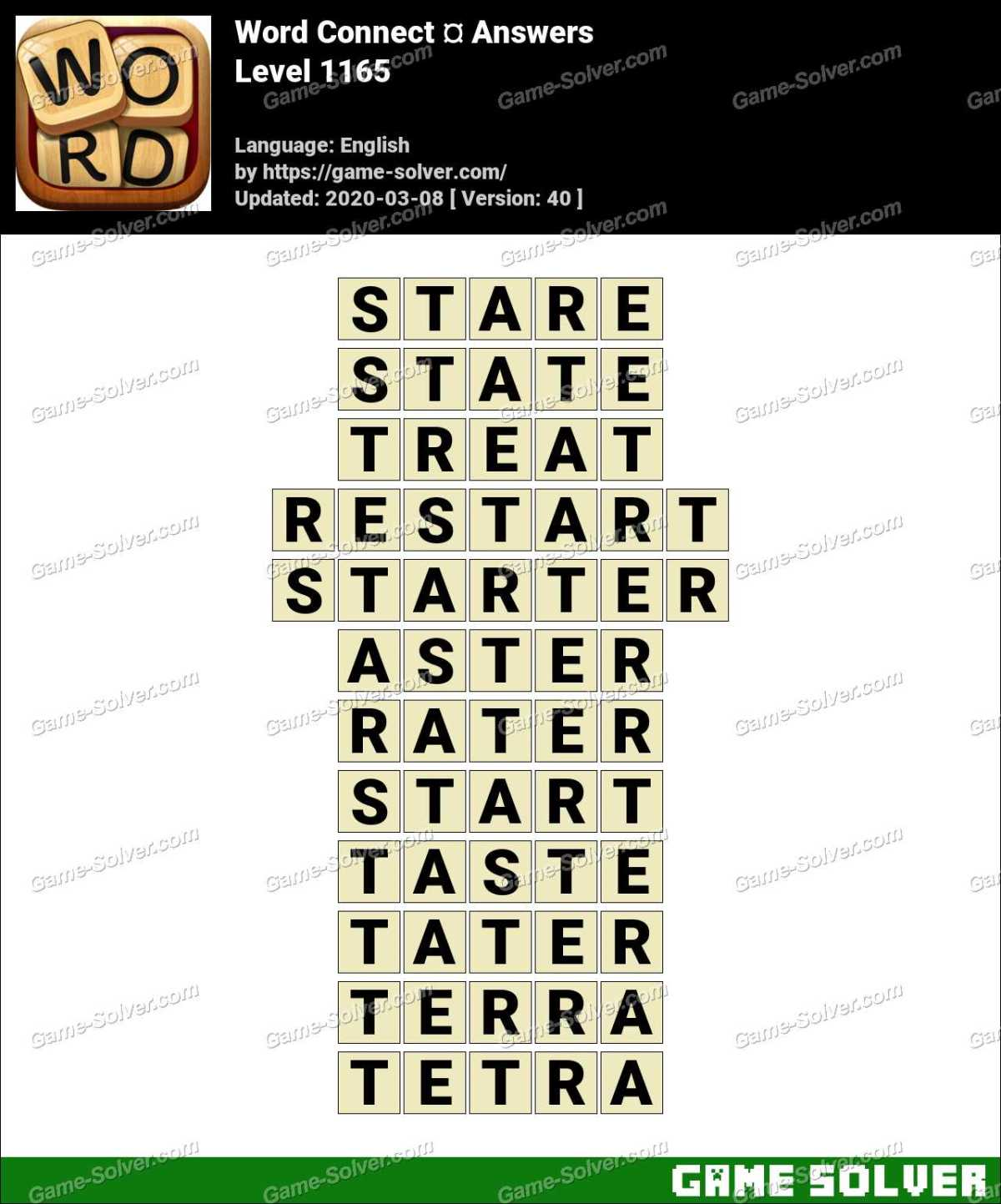 Word Connect Level 1165 Answers