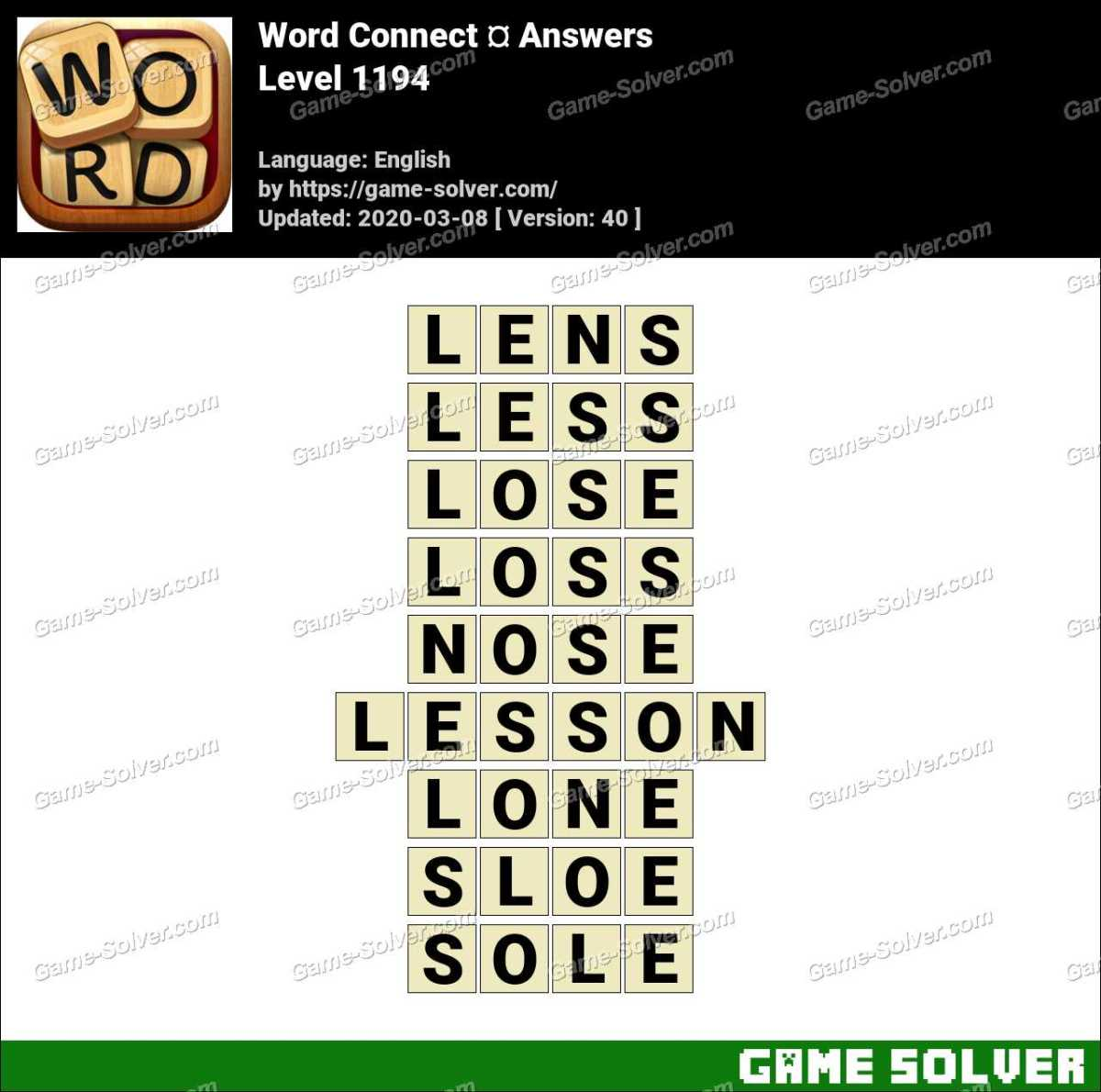 Word Connect Level 1194 Answers