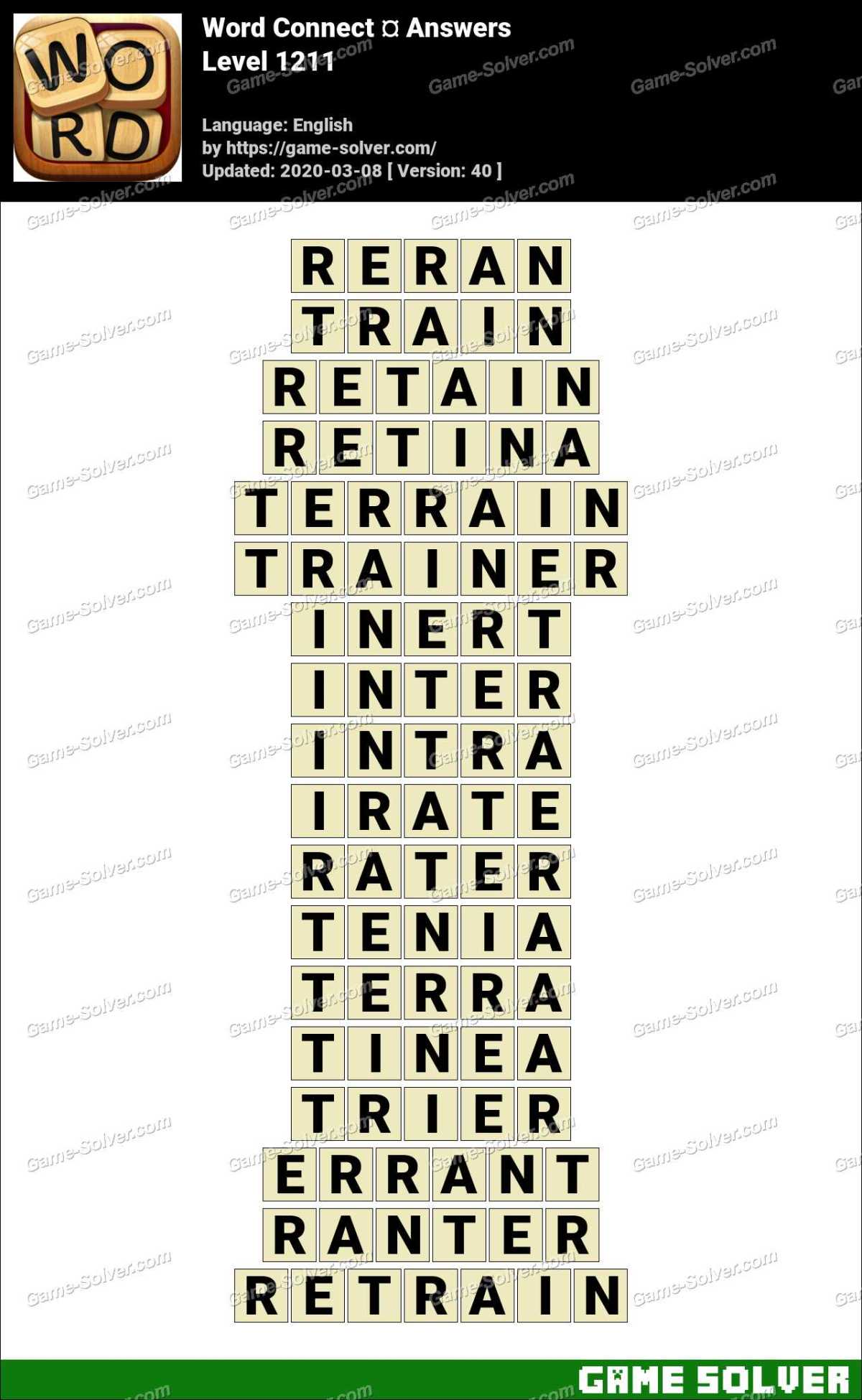 Word Connect Level 1211 Answers