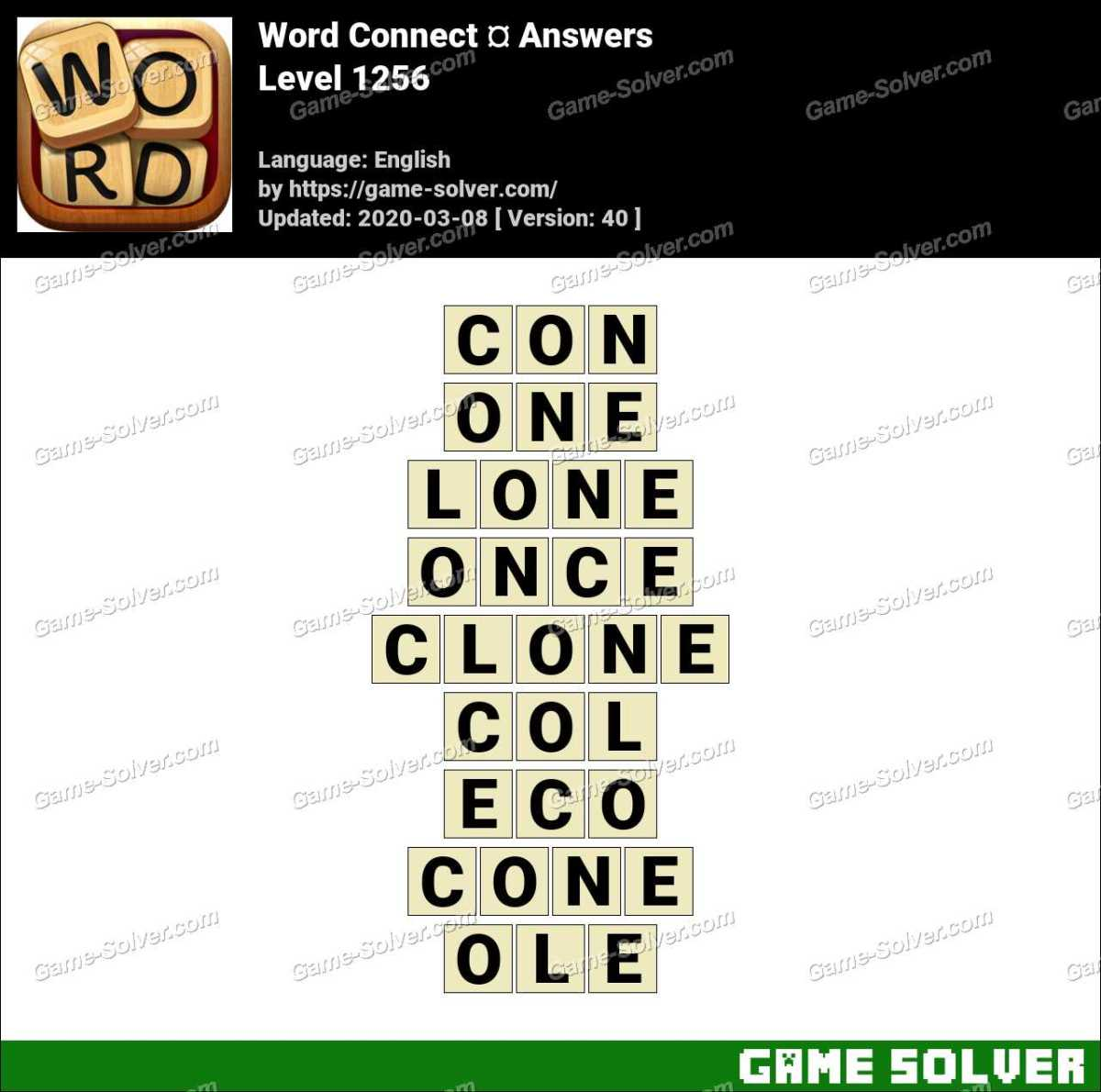 Word Connect Level 1256 Answers