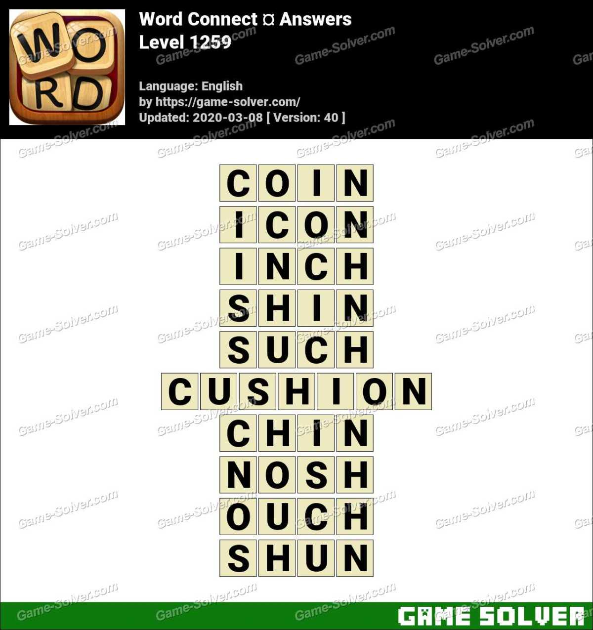 Word Connect Level 1259 Answers
