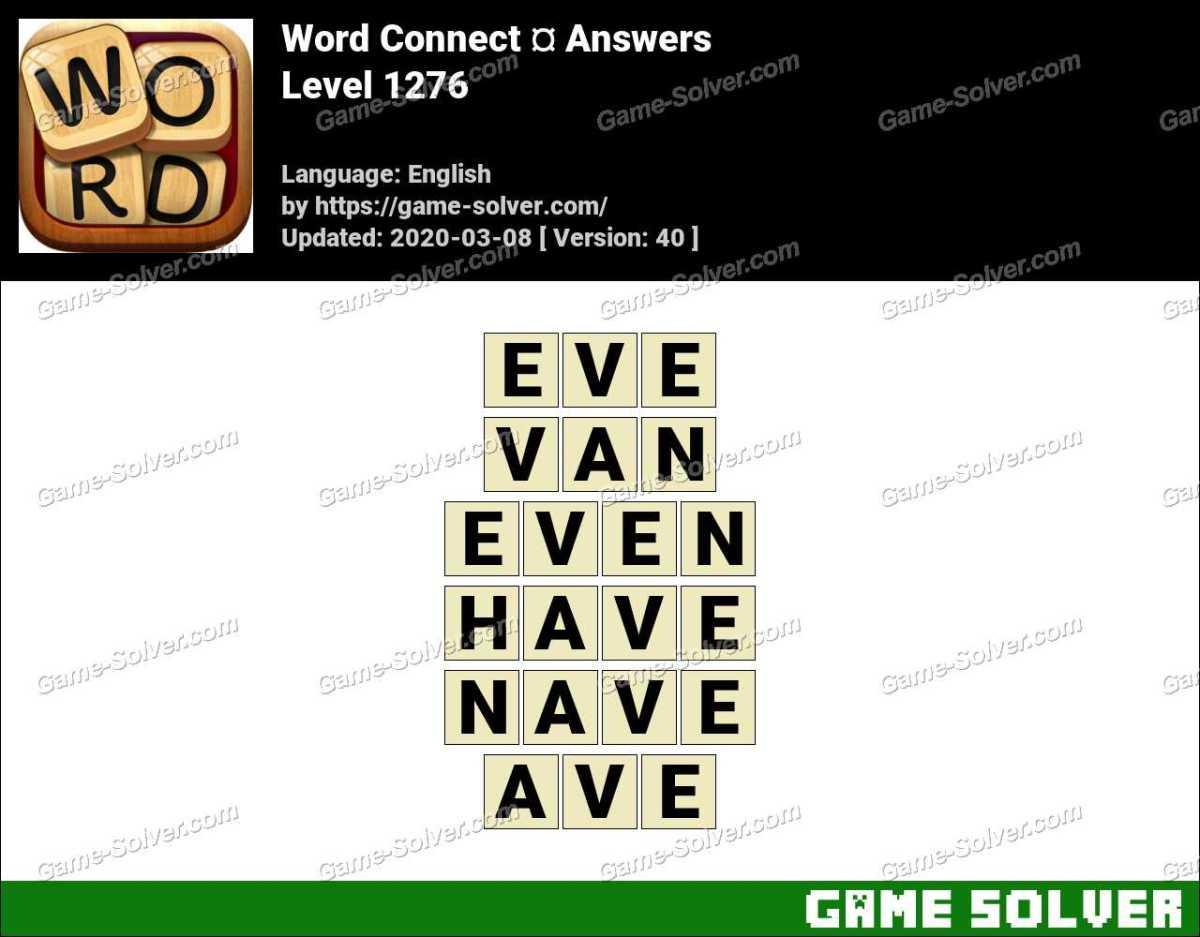 Word Connect Level 1276 Answers
