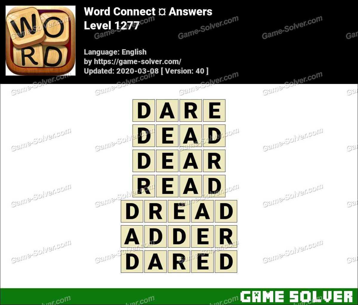 Word Connect Level 1277 Answers