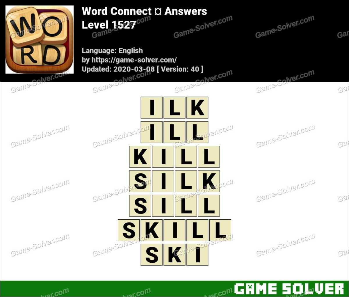 Word Connect Level 1527 Answers
