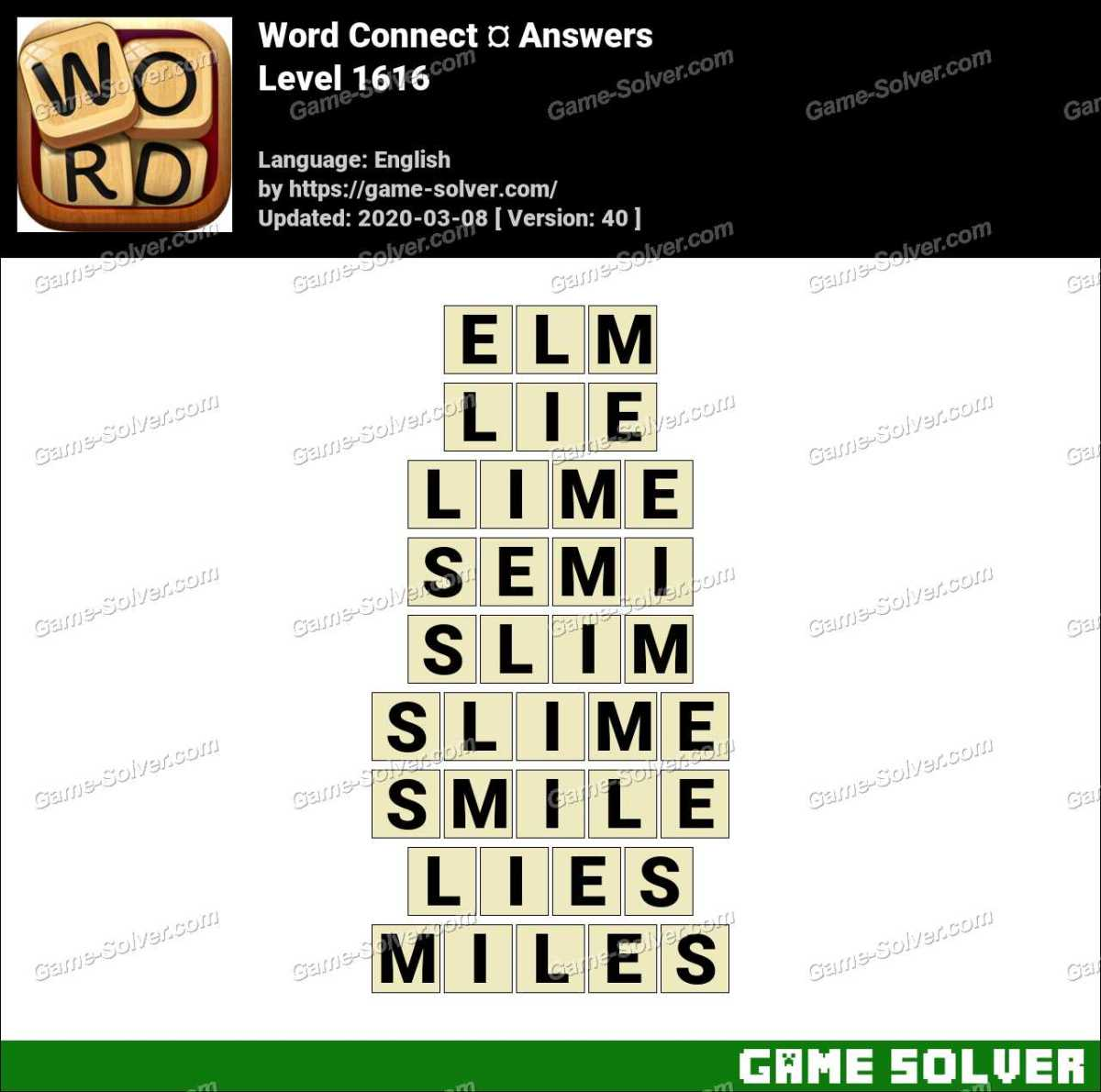 Word Connect Level 1616 Answers