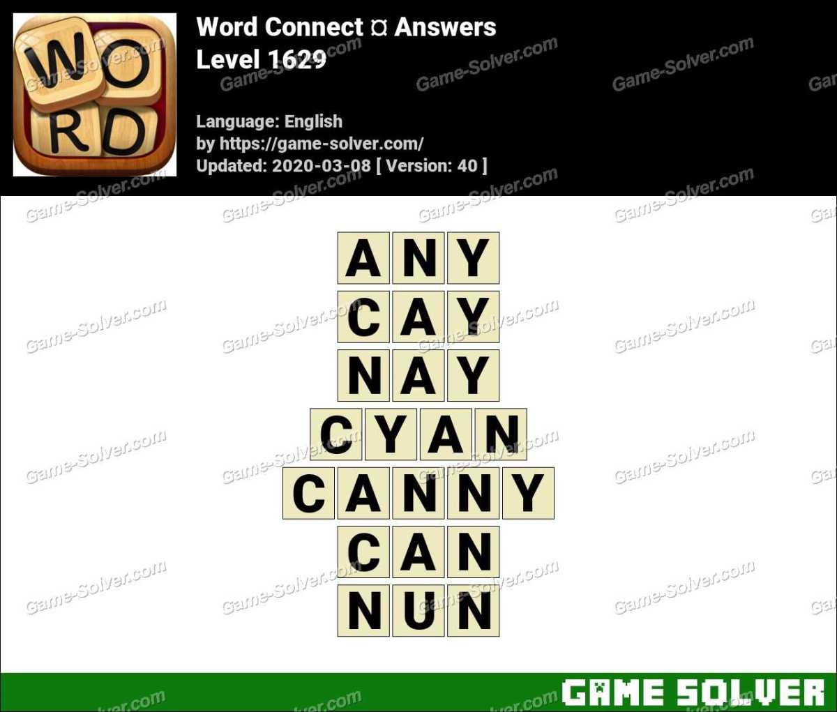 Word Connect Level 1629 Answers