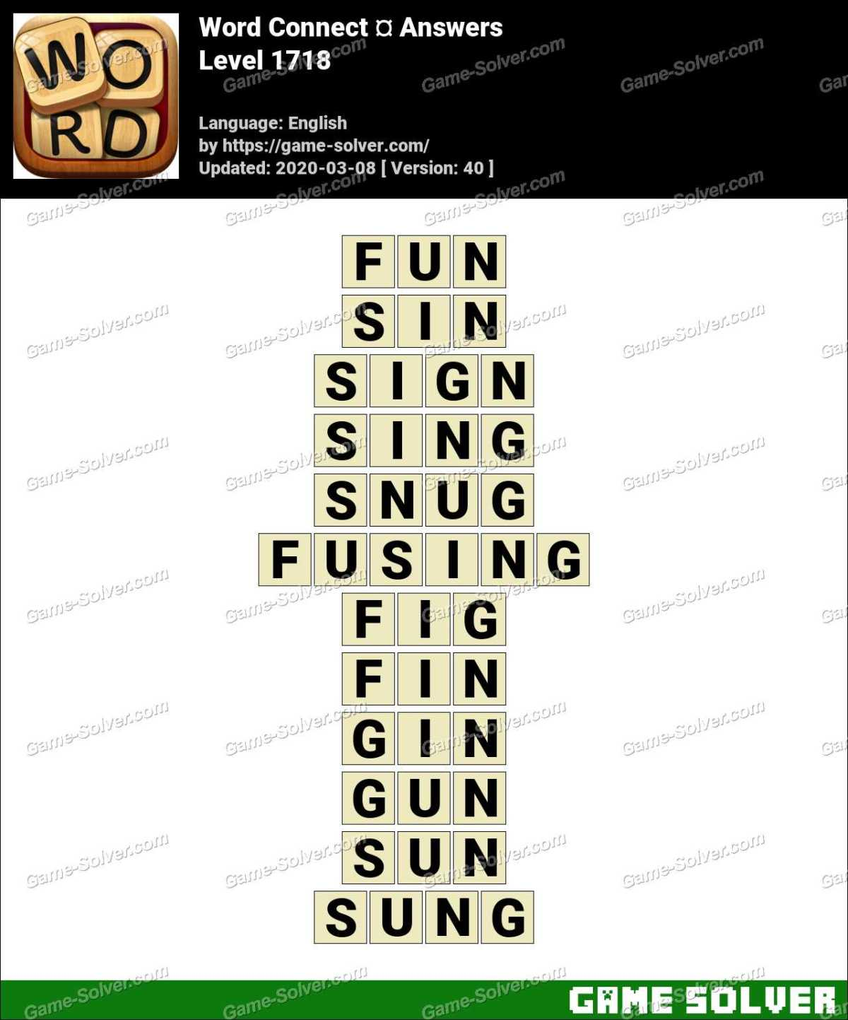 Word Connect Level 1718 Answers