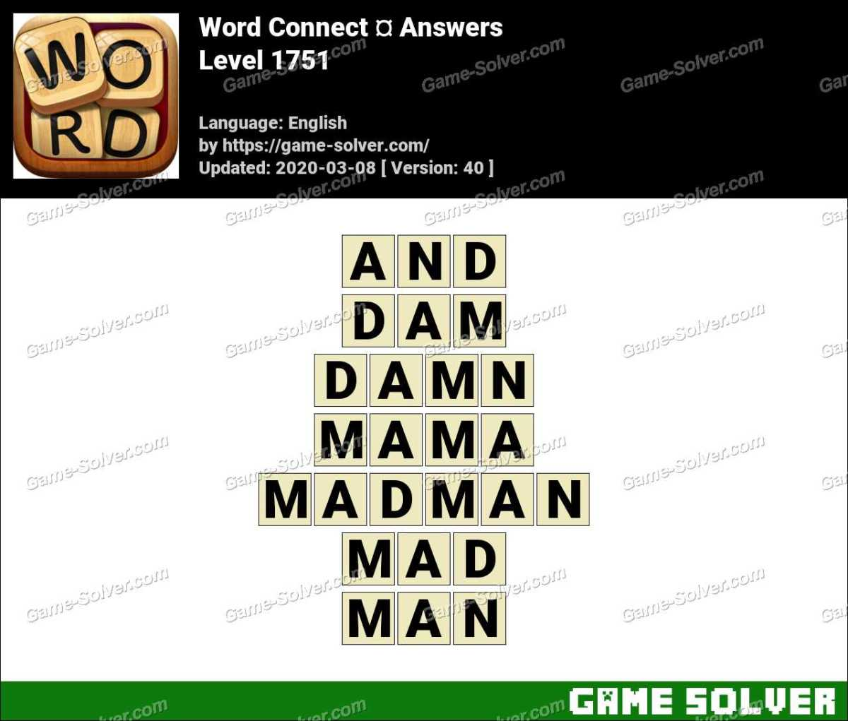 Word Connect Level 1751 Answers