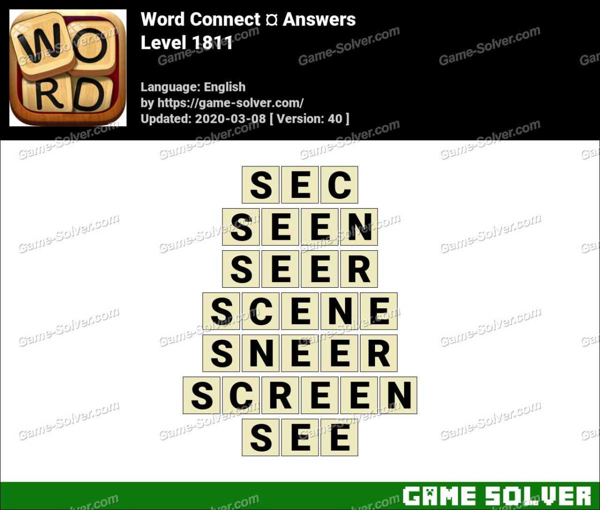 Word Connect Level 1811 Answers