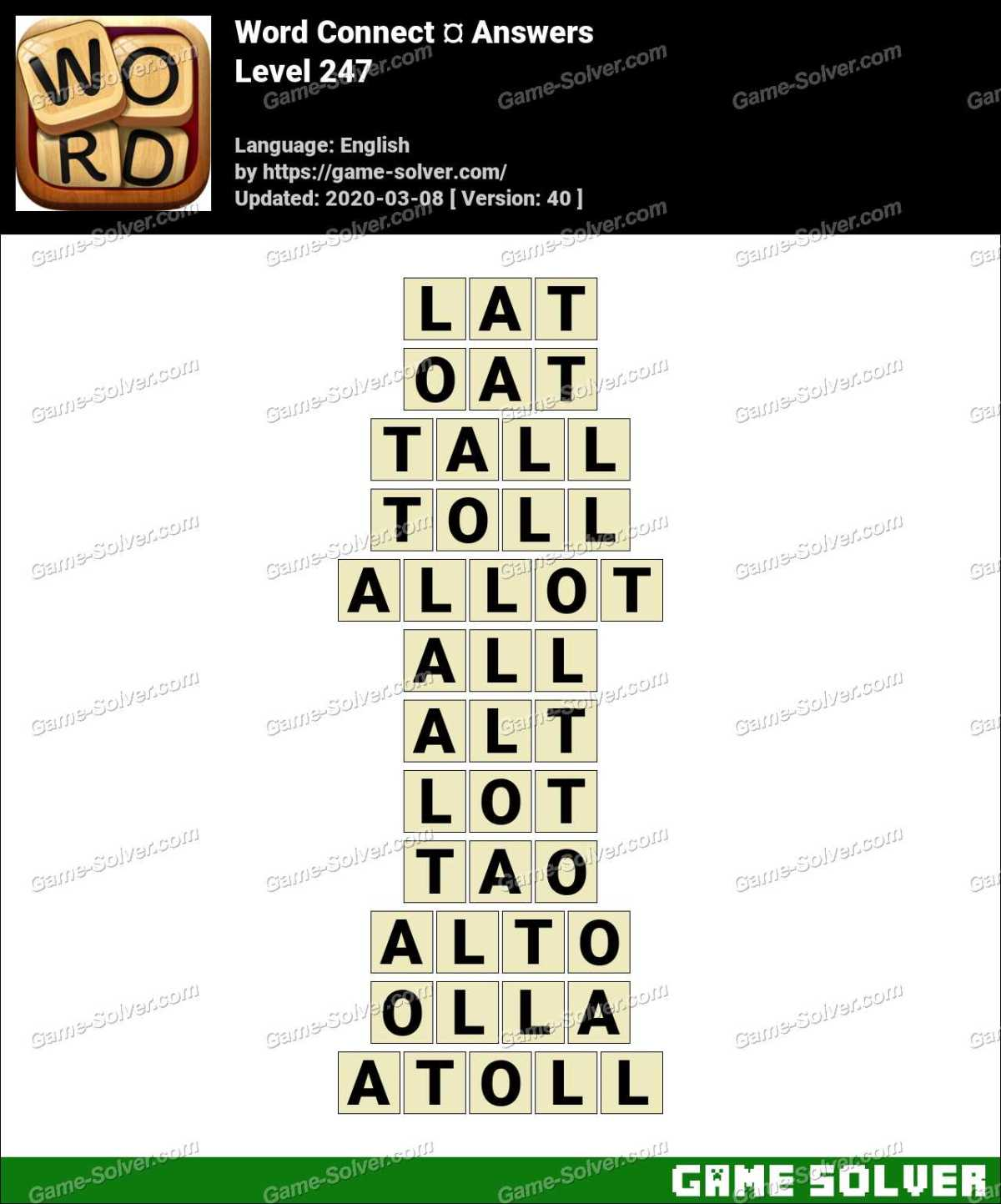 Word Connect Level 247 Answers