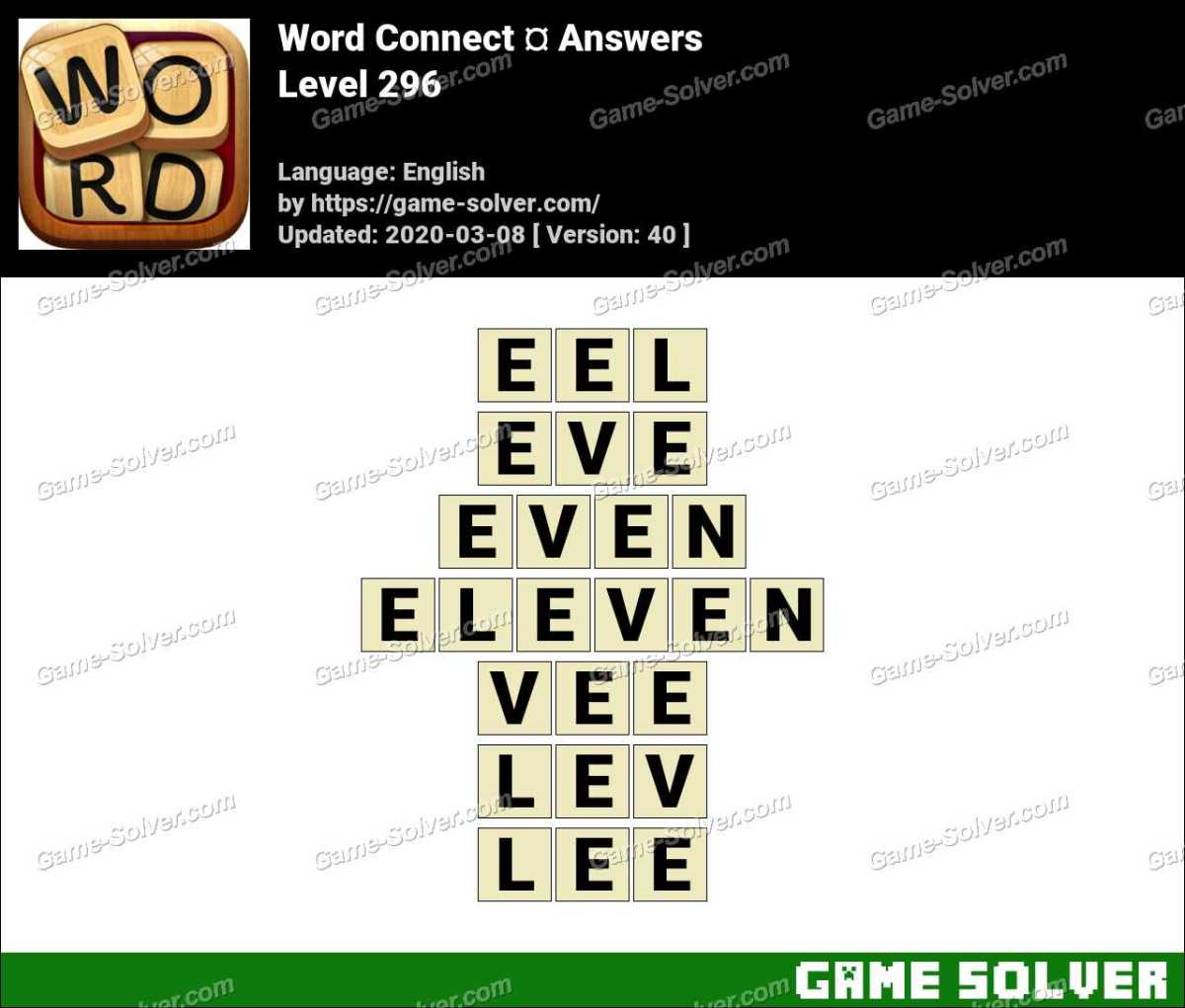Word Connect Level 296 Answers