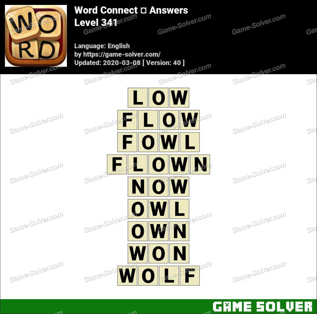 Word Connect Level 341 Answers