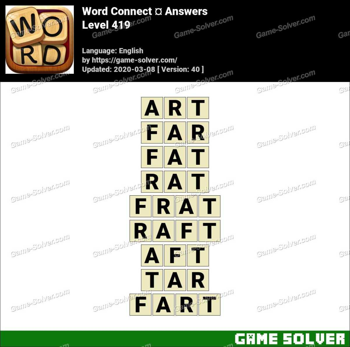 Word Connect Level 419 Answers