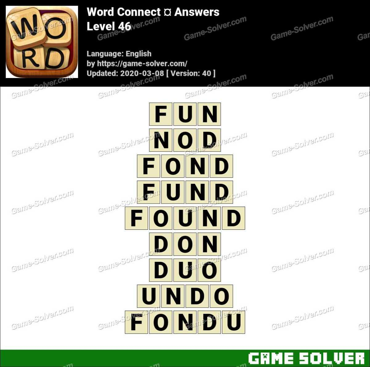 Word Connect Level 46 Answers