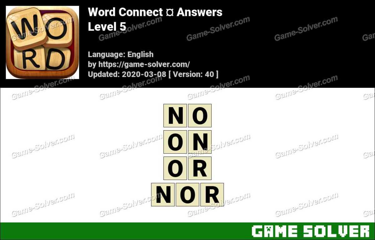 Word Connect Level 5 Answers