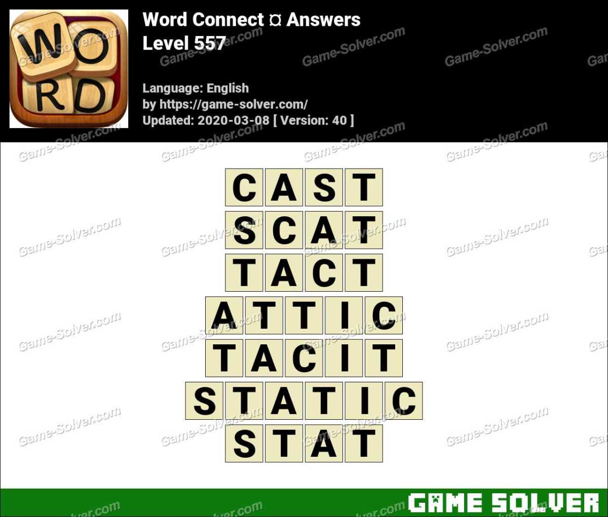 Word Connect Level 557 Answers