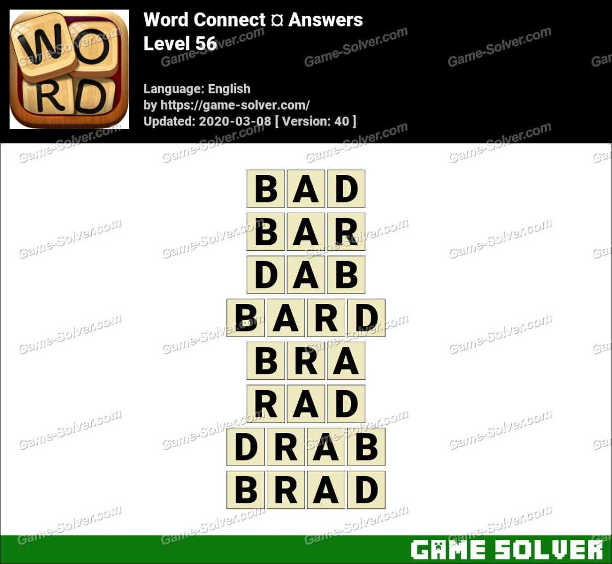 Word Connect Level 56 Answers