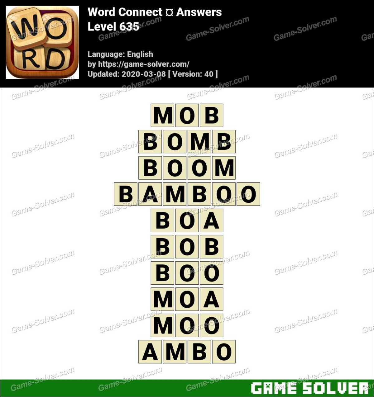 Word Connect Level 635 Answers