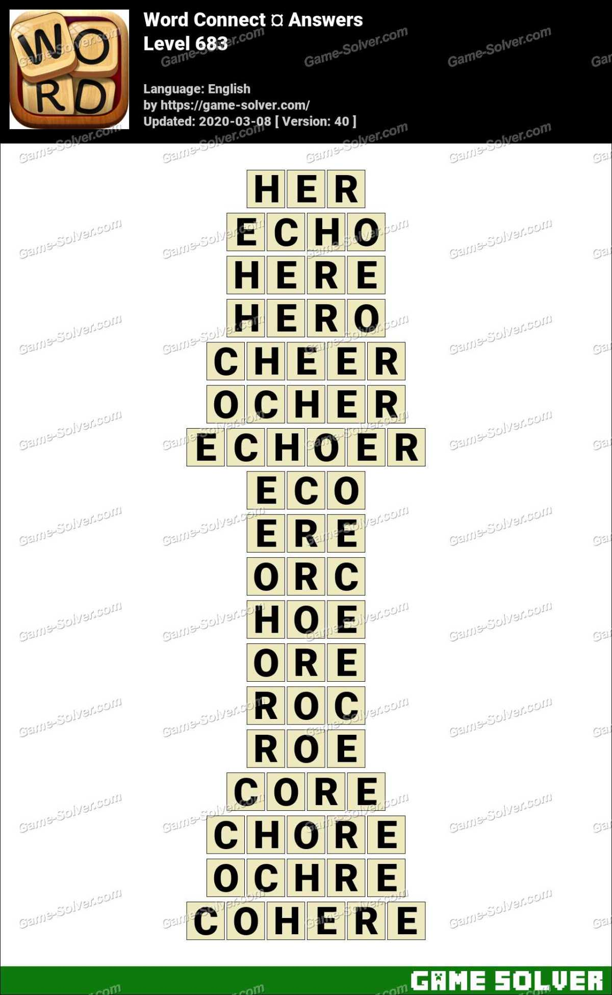Word Connect Level 683 Answers
