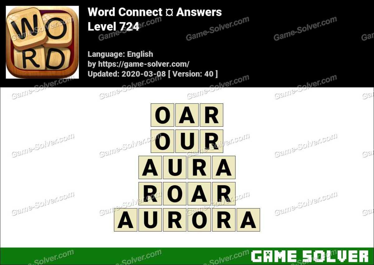 Word Connect Level 724 Answers