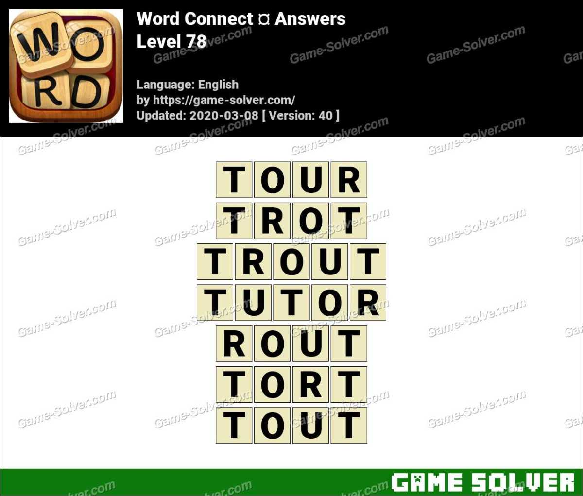 Word Connect Level 78 Answers