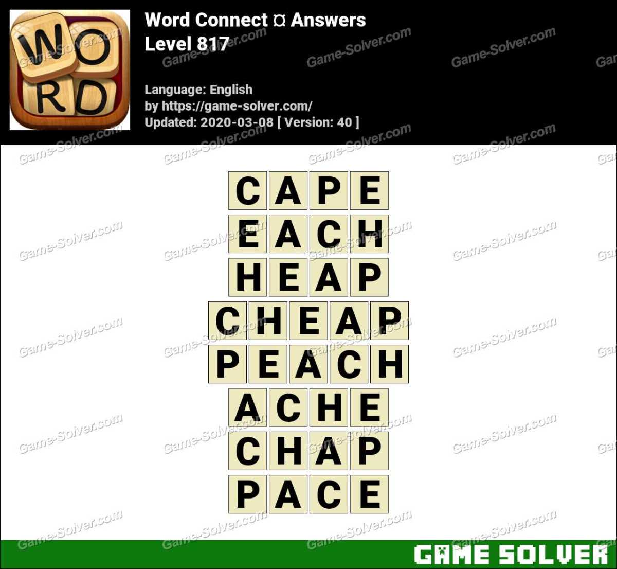 Word Connect Level 817 Answers