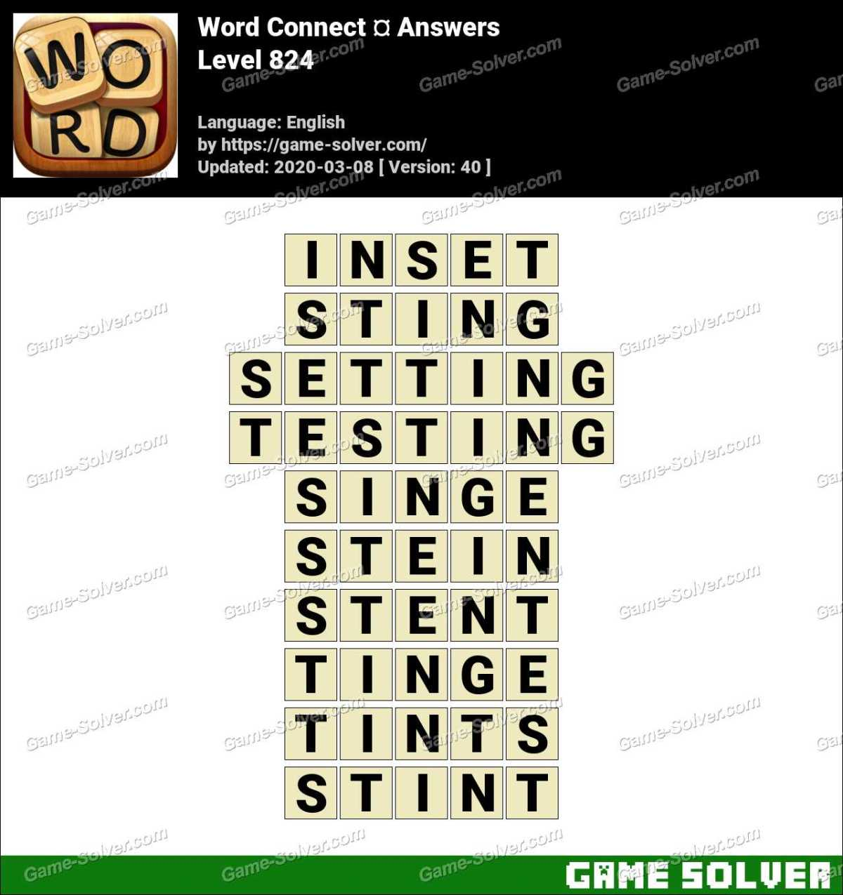 Word Connect Level 824 Answers