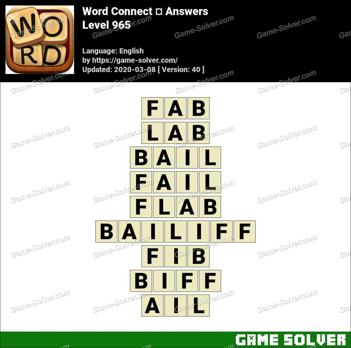 Word Connect Level 965 Answers