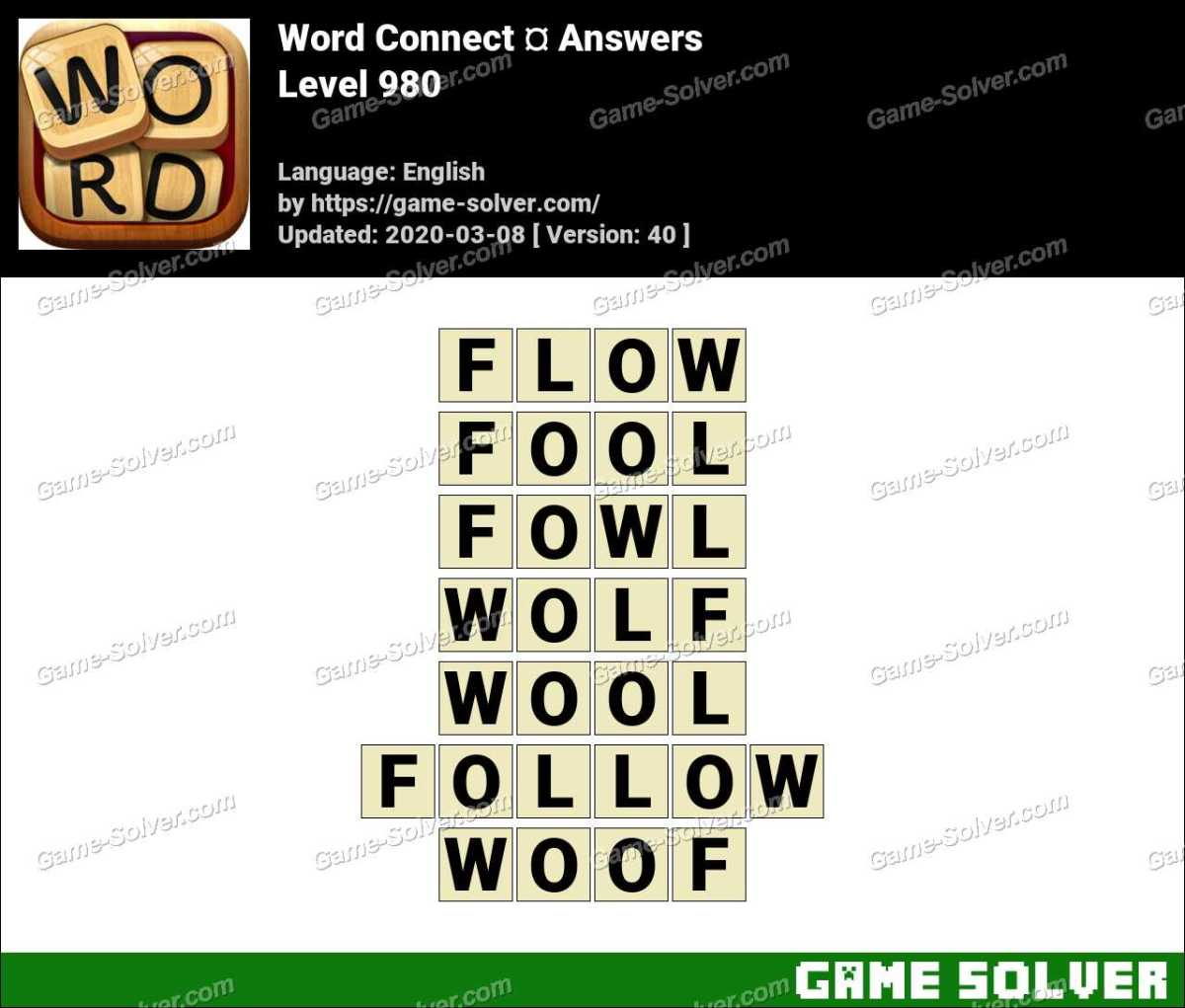 Word Connect Level 980 Answers