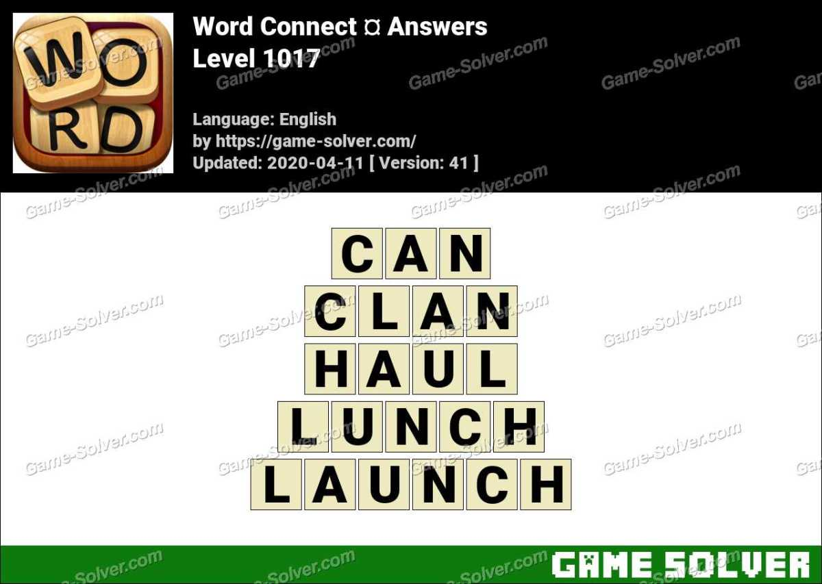 Word Connect Level 1017 Answers