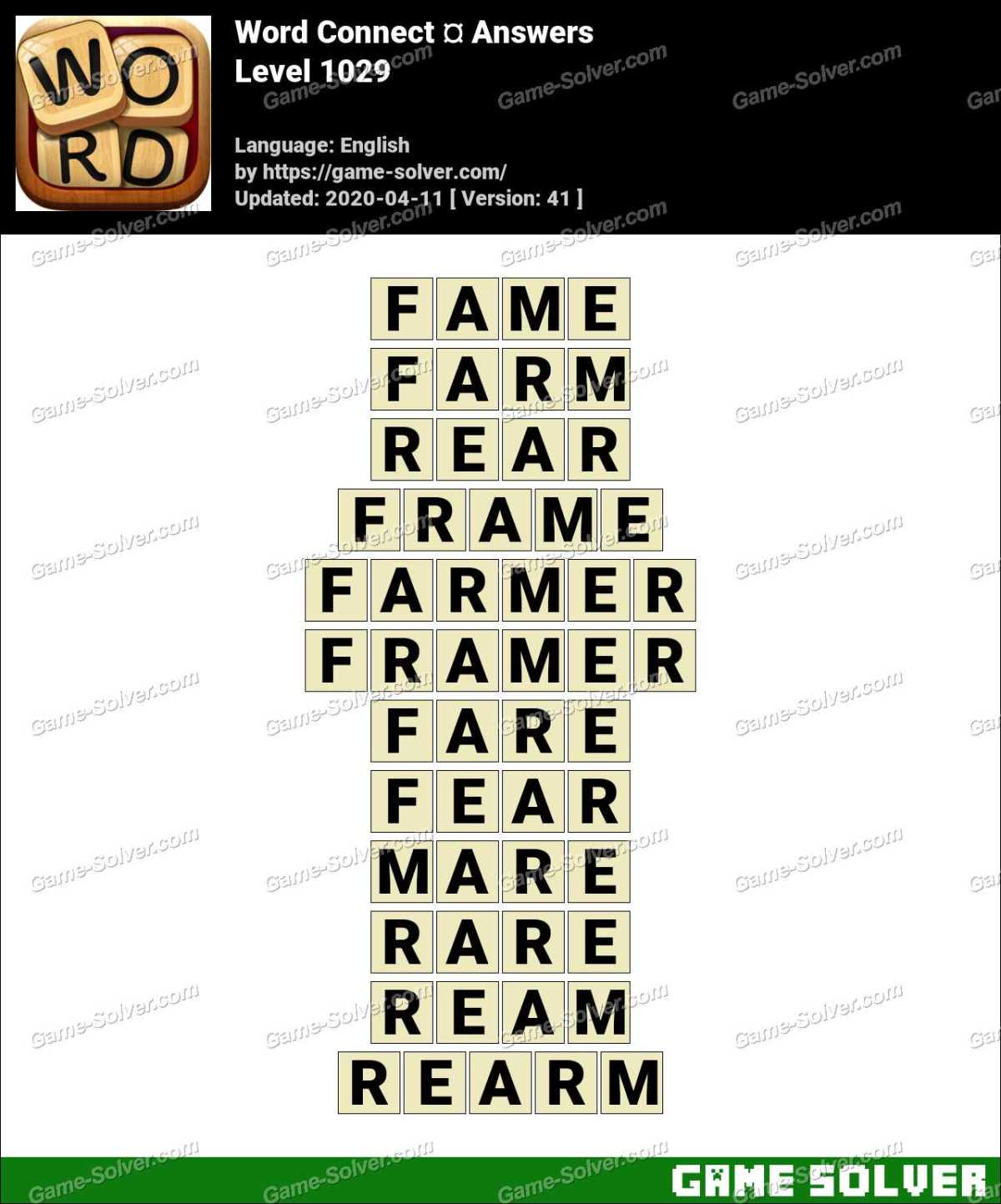 Word Connect Level 1029 Answers
