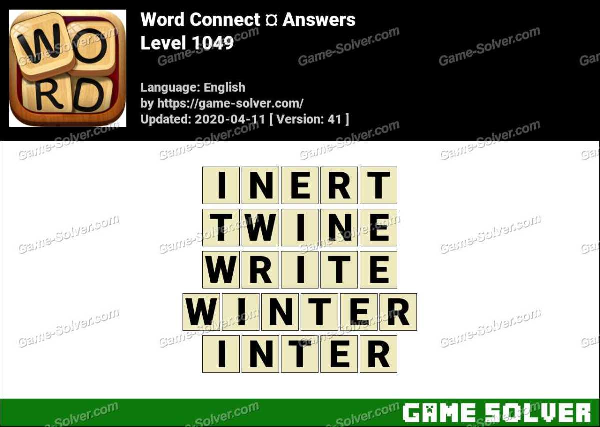 Word Connect Level 1049 Answers