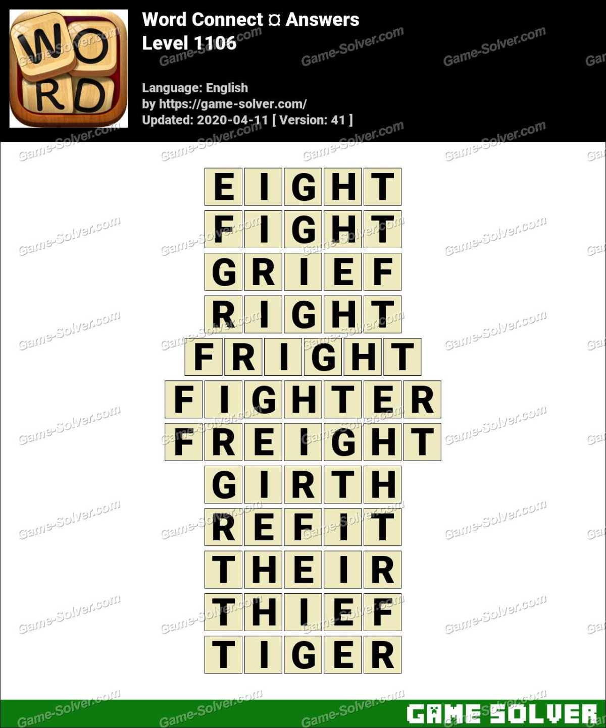 Word Connect Level 1106 Answers