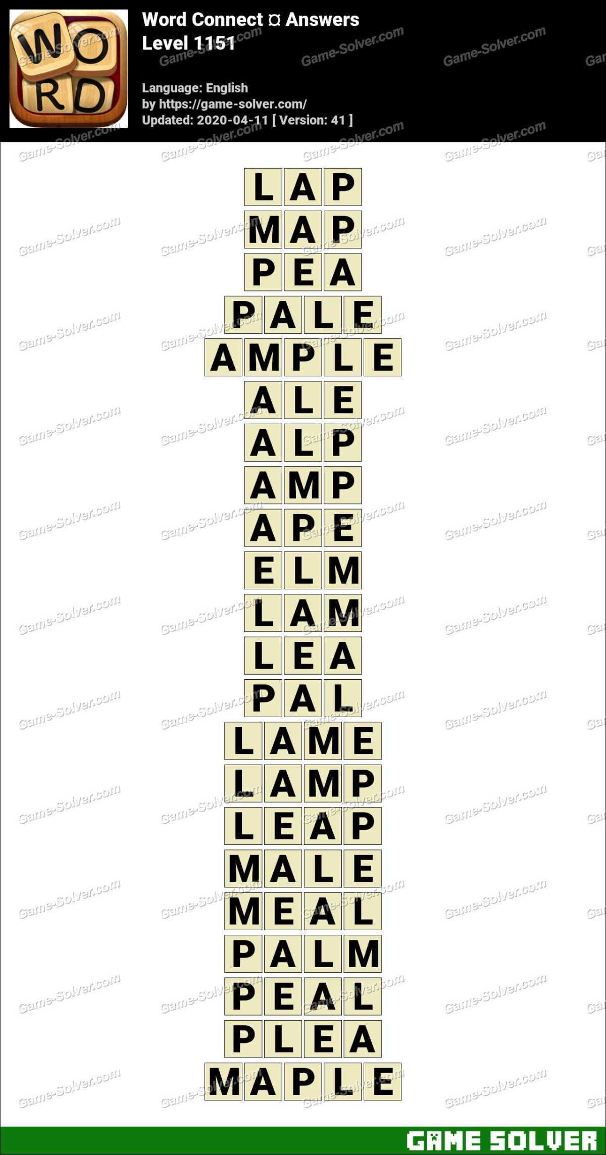 Word Connect Level 1151 Answers
