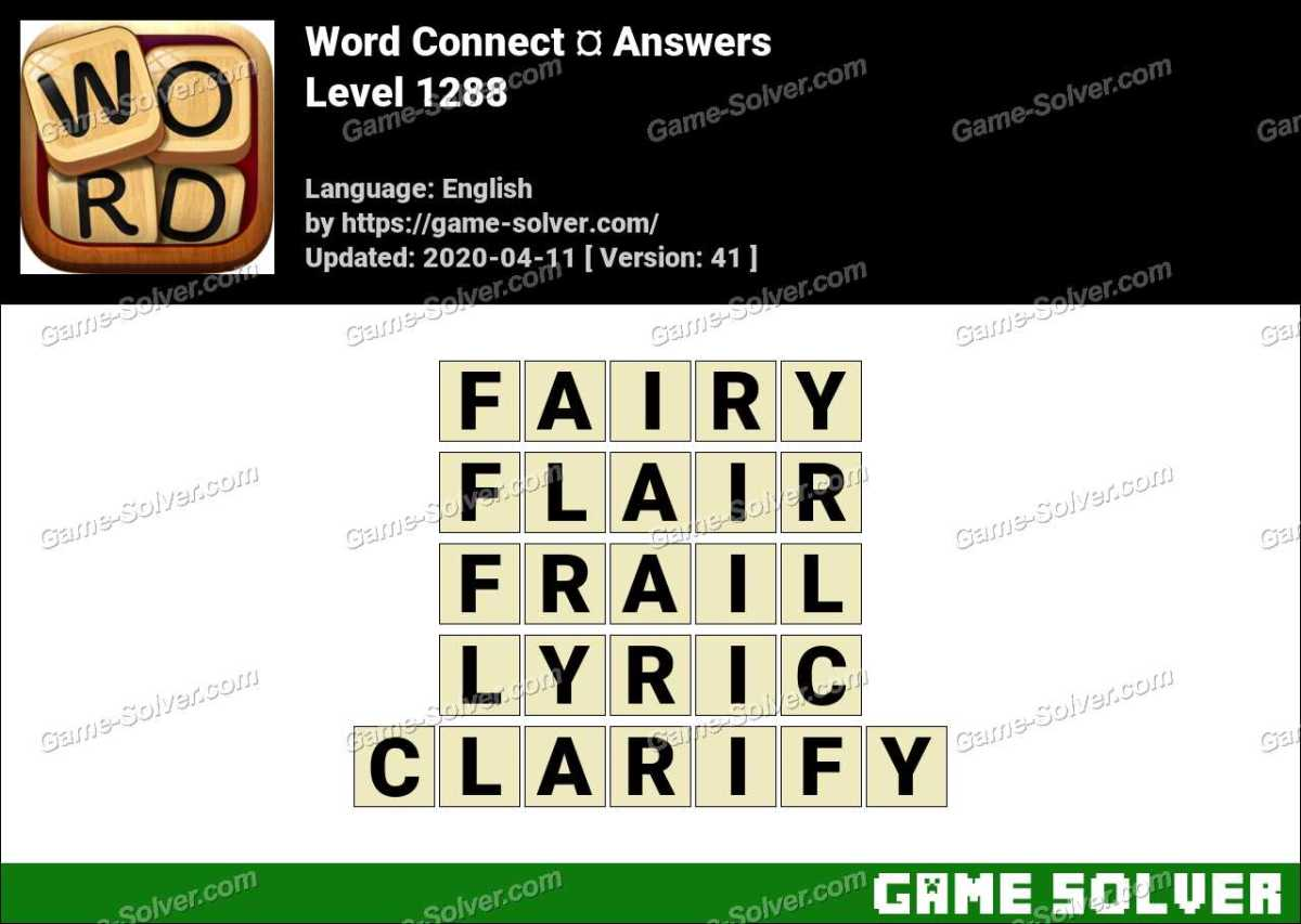 Word Connect Level 1288 Answers
