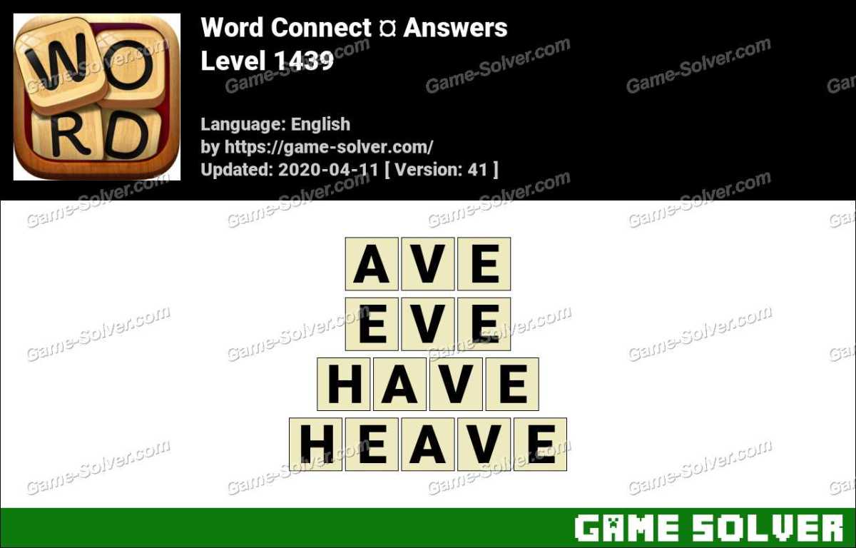 Word Connect Level 1439 Answers