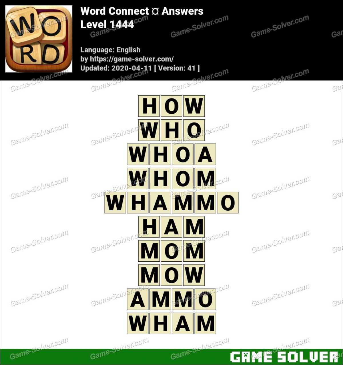Word Connect Level 1444 Answers