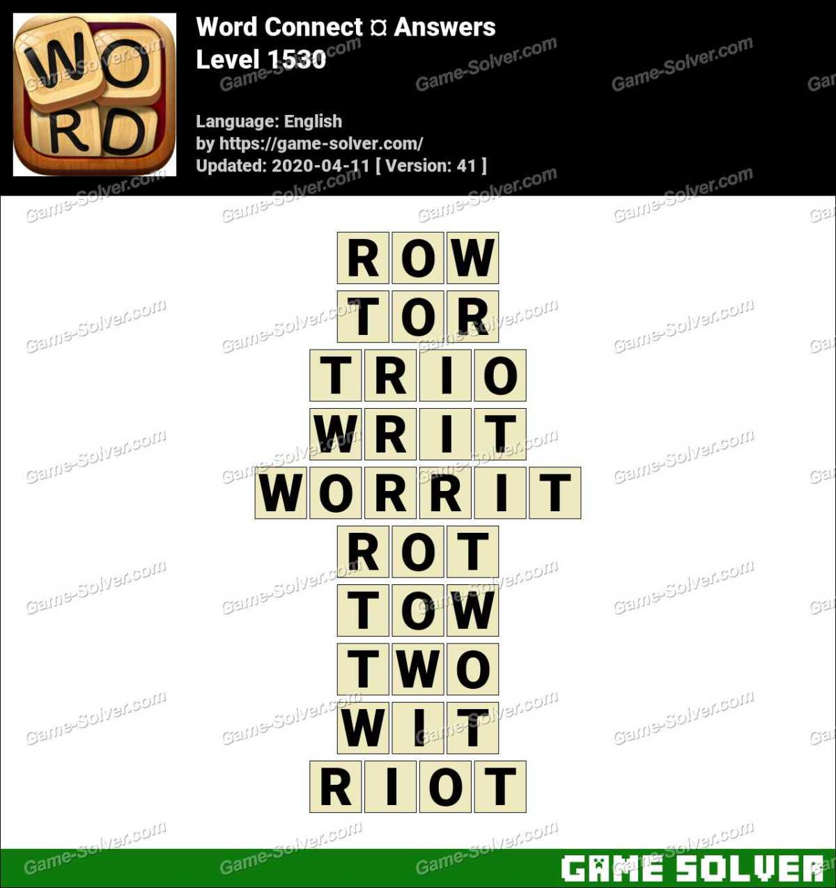 Word Connect Level 1530 Answers