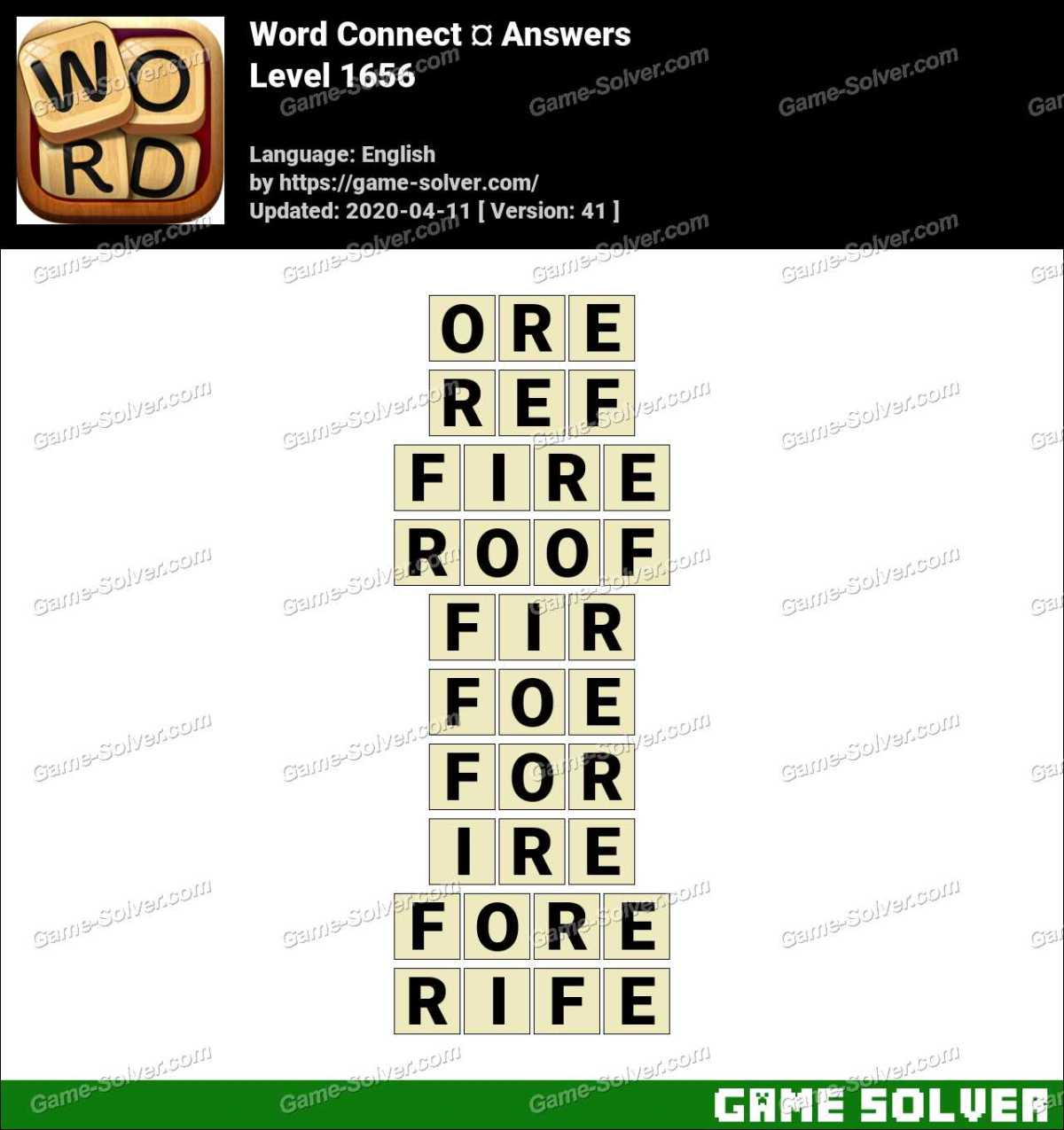 Word Connect Level 1656 Answers