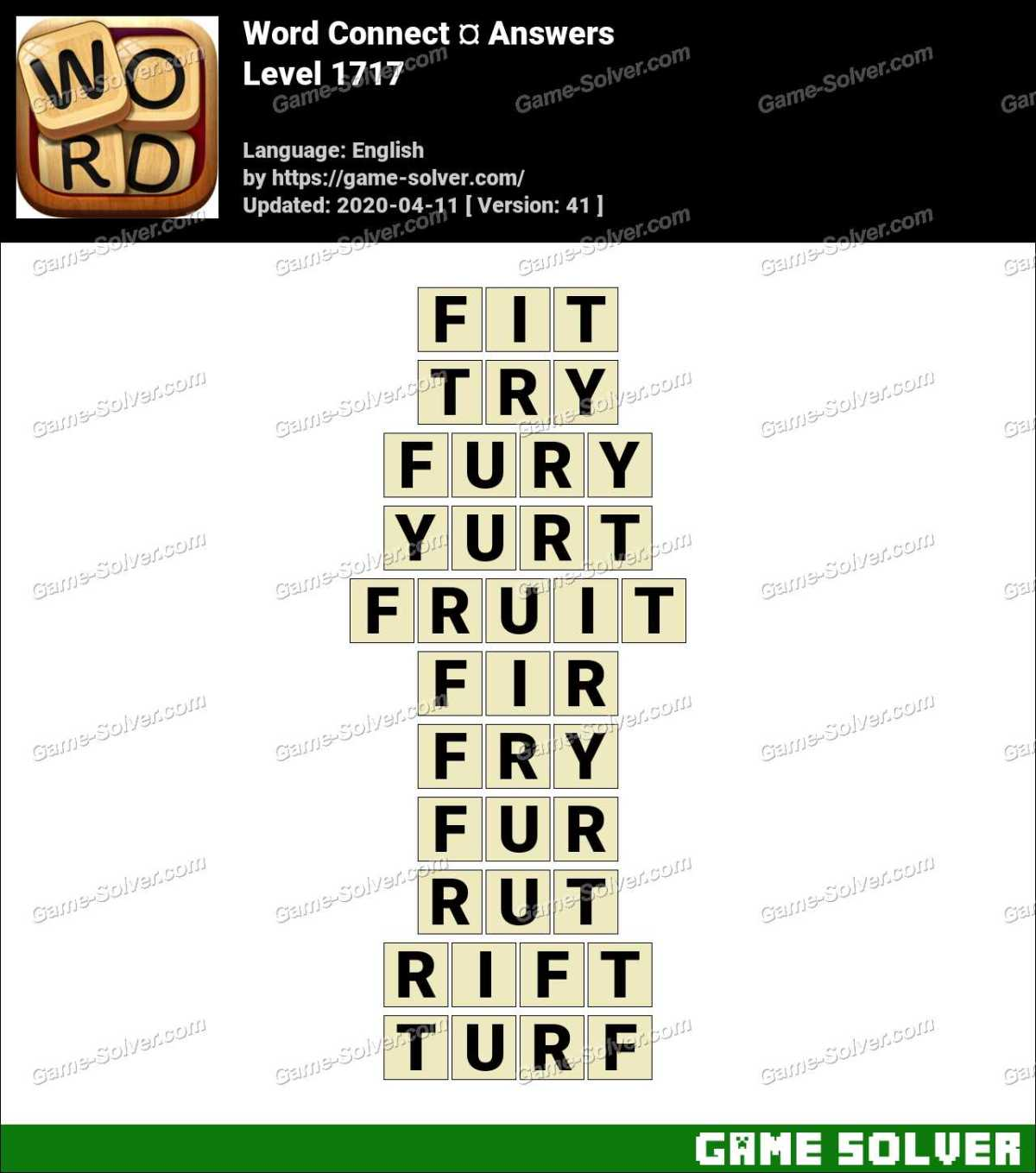 Word Connect Level 1717 Answers