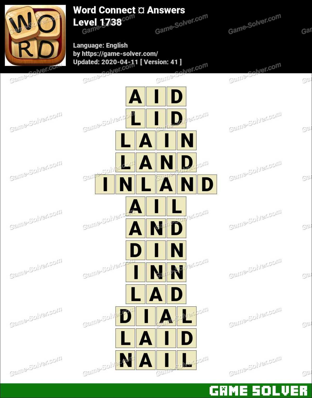 Word Connect Level 1738 Answers