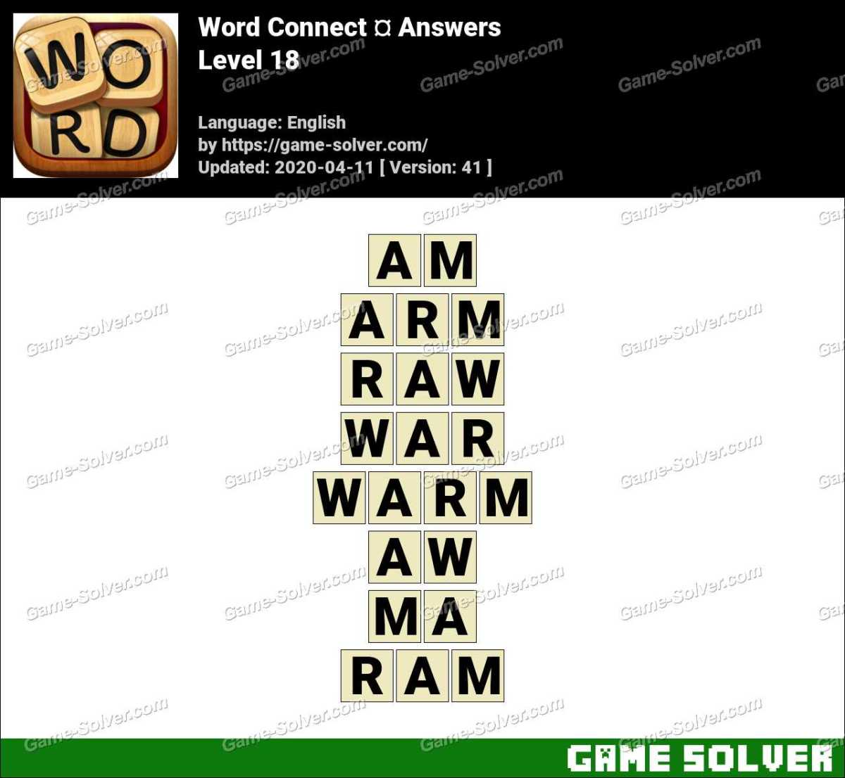 Word Connect Level 18 Answers
