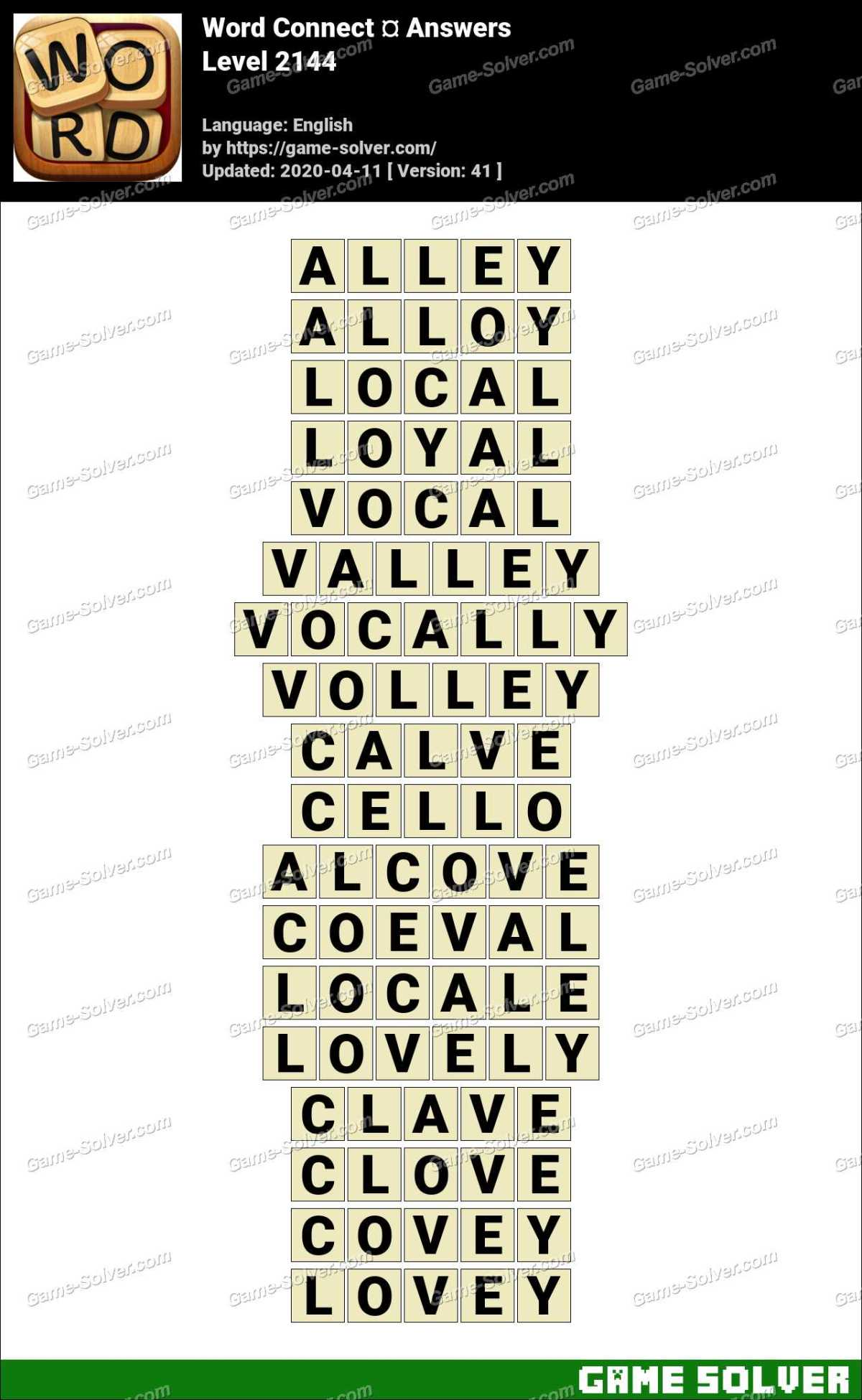 Word Connect Level 2144 Answers