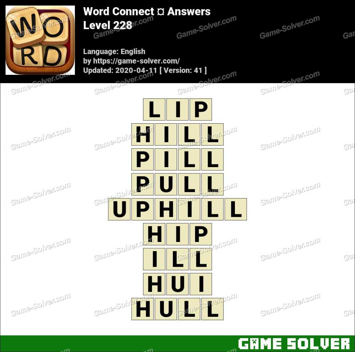 Word Connect Level 228 Answers