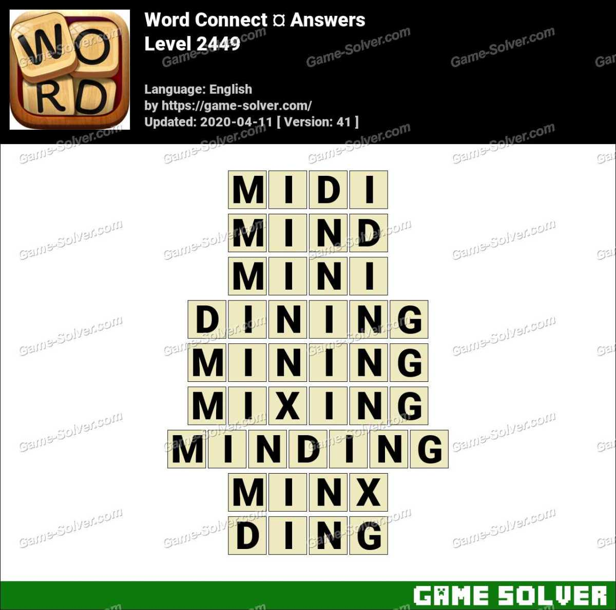 Word Connect Level 2449 Answers