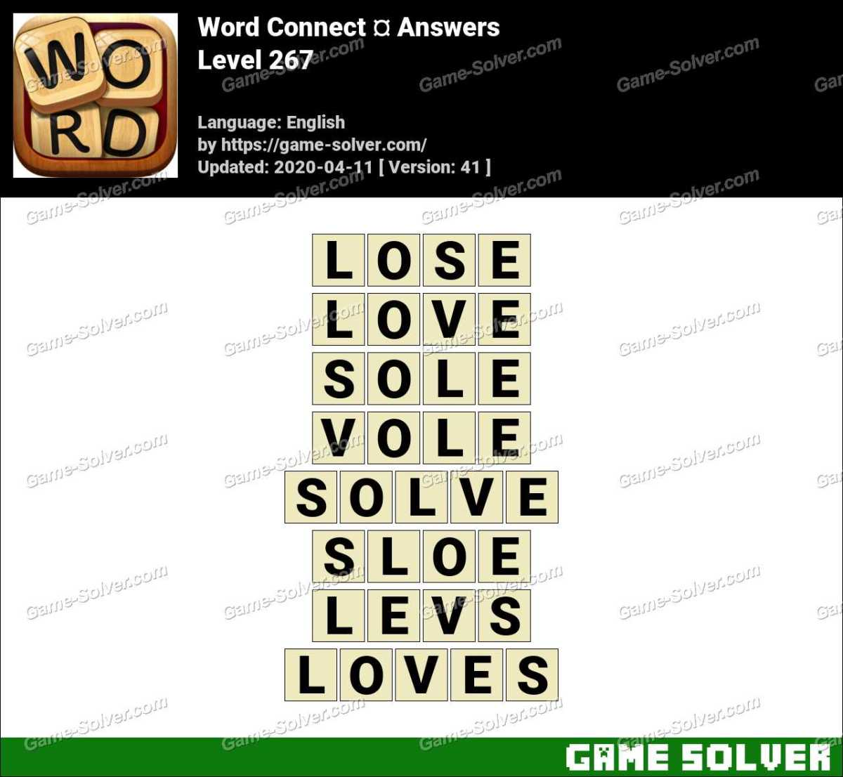 Word Connect Level 267 Answers
