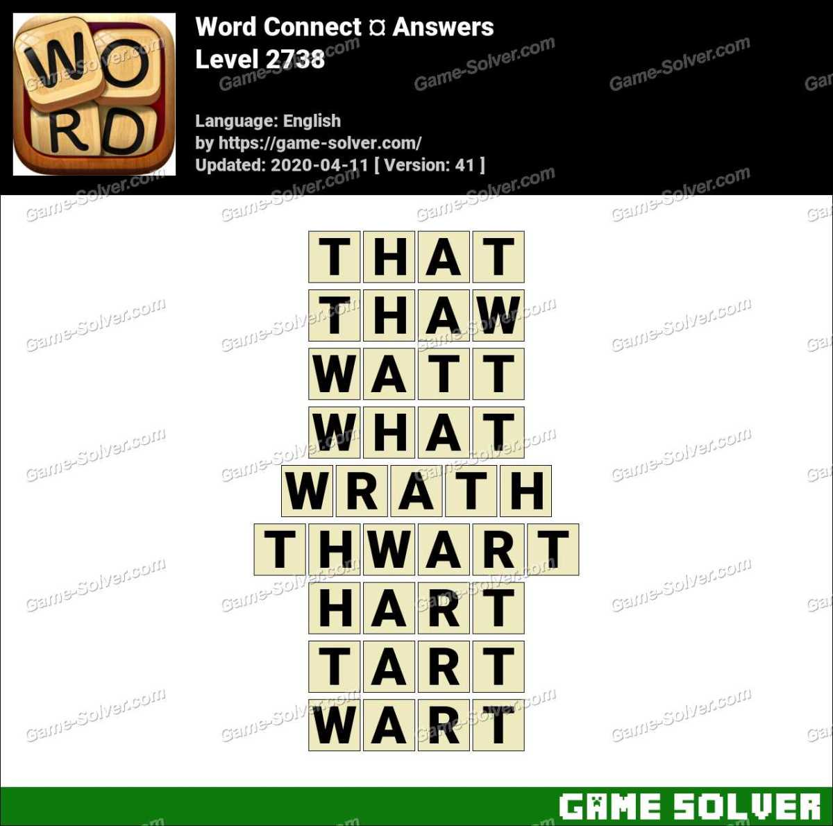 Word Connect Level 2738 Answers