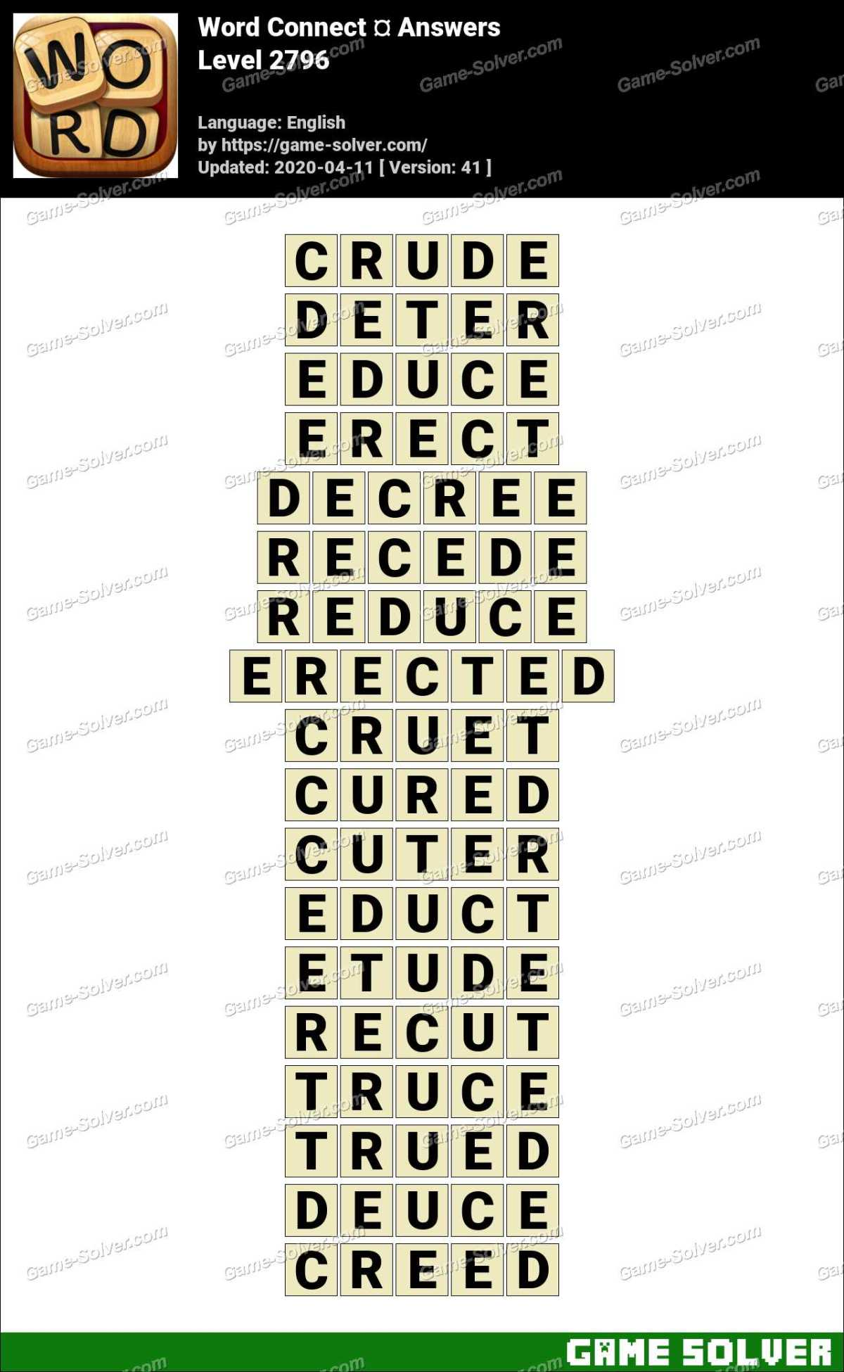 Word Connect Level 2796 Answers