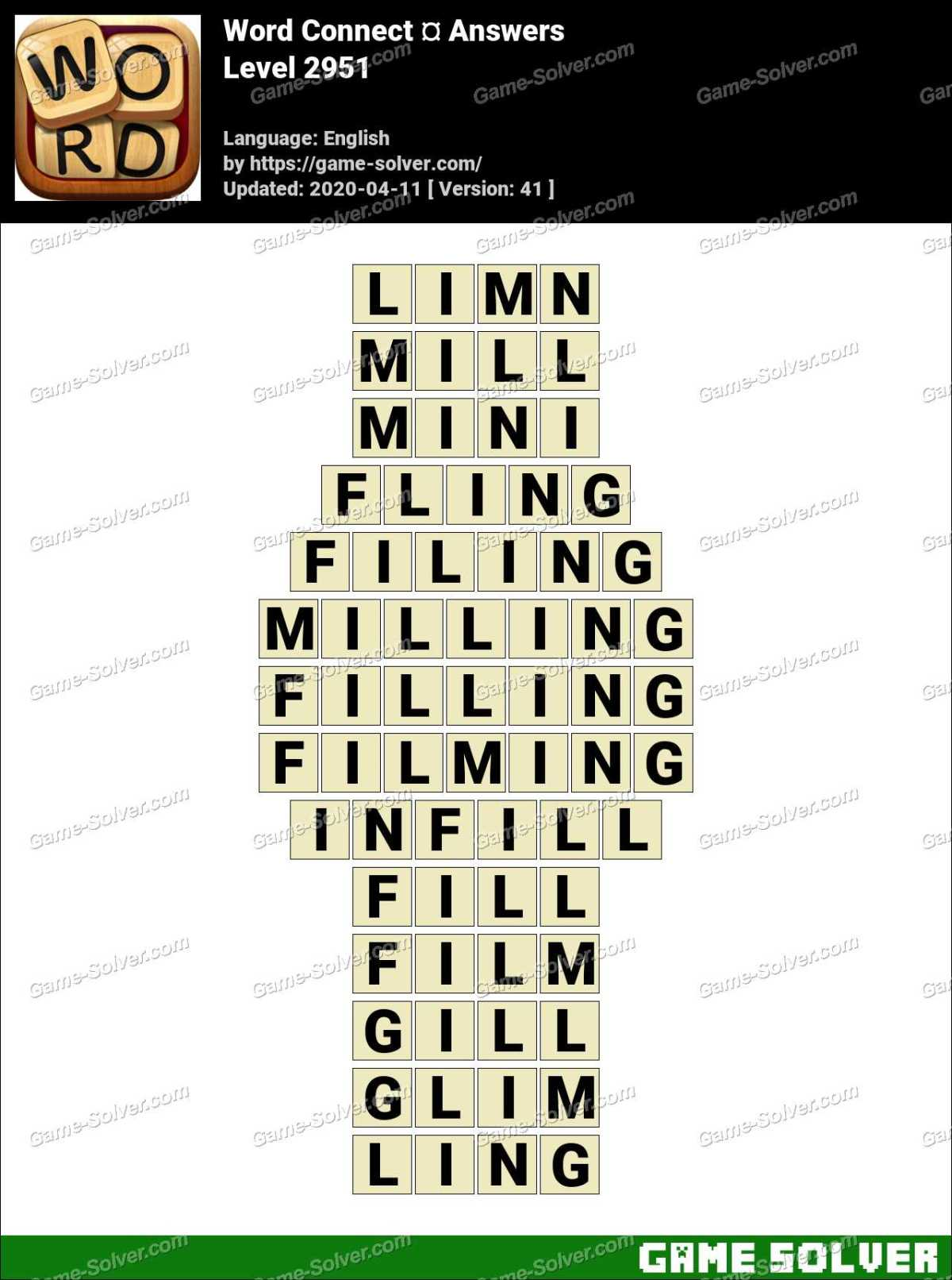 Word Connect Level 2951 Answers